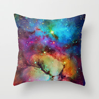 Floral Nebula Throw Pillow by Starstuff