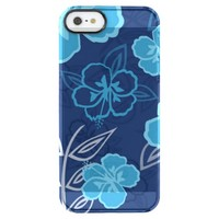Blue Hawaiian Hibiscus Pattern