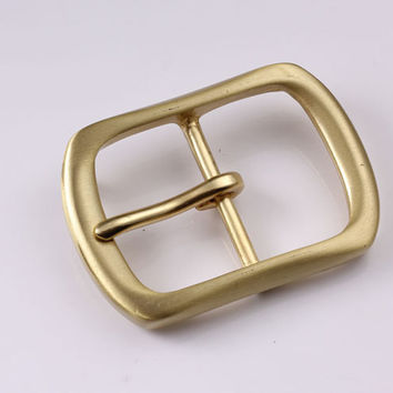 40mm Copper Free Single Prong Solid Brass Horseshoe Belt Buckle DIY Leathercraft Metal Accessories 426