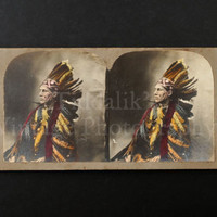 Orr's Stereoscopic Views Song Tammany Native American Indian Stereoview 3D