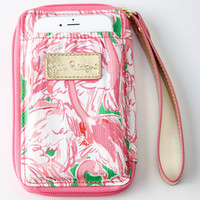 Lilly Pulitzer Prep Pink Carded ID Smartphone Wristlet