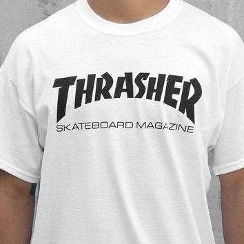 ONETOW Thrasher Skate Mag T-Shirt In White
