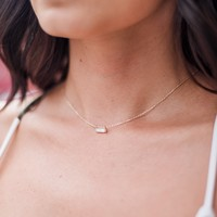 Stay Awake Crystal Necklace in Gold