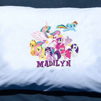 Personalized  My Little Pony from G4 My Little Ponies custom Pillowcase