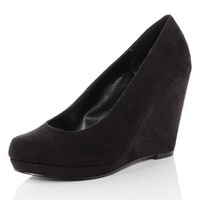 Black wedge court shoes - Court Shoes - Heels  - Shoes - Dorothy Perkins