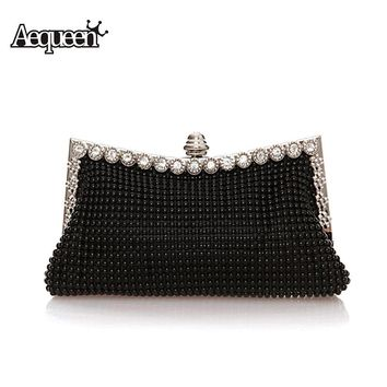 Ladies Evening Clutch Bags Diamond 2018 Women Evening Bag Beaded Day Clutches Wedding Party Purse Shinestones Banquet Bead Bag