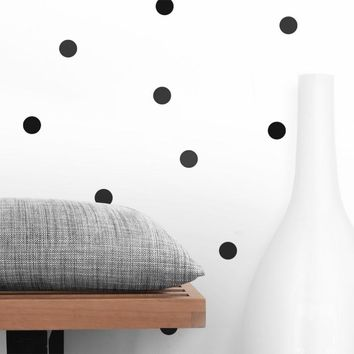 120/70 PCS 4cm and 6cm black tiny polka dots circle cycling round wall sticker for kitchen refrigerator bathroom decor,M2S1