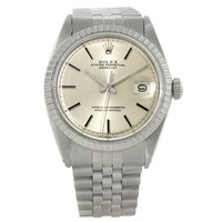 Rolex Datejust Mens Stainless Steel Silver Dial Vintage Watch 1603