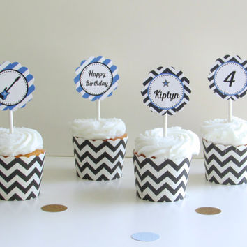 Rockstar Birthday Party: Printable Cupcake Toppers