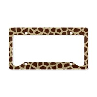 Toiletry Bag Giraffe Print License Plate Holder