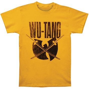 Wu Tang Clan Men's  Swords Logo Mens Regular T T-shirt Yellow Gold