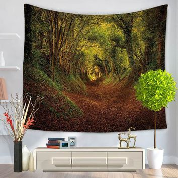 Thick Forest Scenery Tapestry