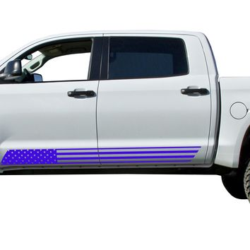 USA Flag door stripes Decals Vinyl Stickers Set fits 2014-2018 Toyota Tundra