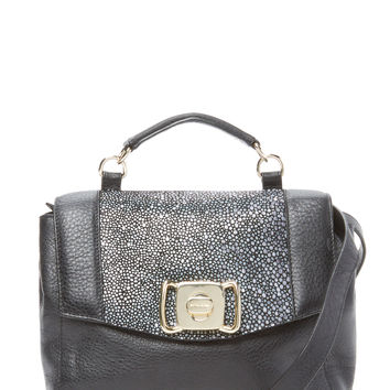See by Chloe Women's Small Embossed Leather Satchel - Black