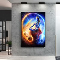 Lord Shiva Hindu Religion Wall Art Canvas Prints Hindu God Canvas Paintings On The Wall Lord Shiva Portrait Pictures Home Decor