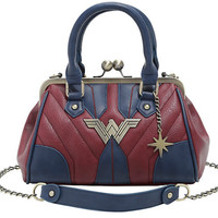 [LIMITED EDITION] Wonder Woman Top Handle Satchel Bag with Chain Strap