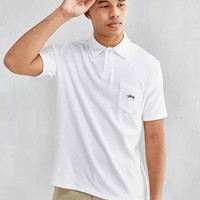 Stussy Terry Fleece Polo Shirt