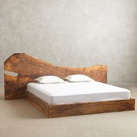 Live Edge Wood King Bed by Anthropologie Natural King Furniture