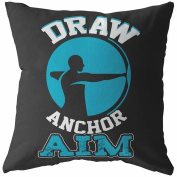 Archery Pillows Draw Anchor Aim
