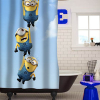 despicable me minion custom shower curtain