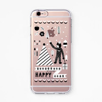 iPhone Rubber Case - Makitoy Happy - iPhone 6s case, iPhone 6 case, iPhone 6s+ case, iPhone 6+ case - Clear Flexible Rubber TPU case IC05