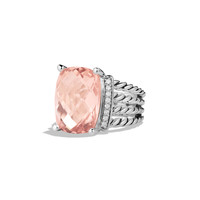 Wheaton Ring with Morganite and Diamonds - David Yurman