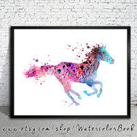 Horse 4 , Watercolor Print, watercolor painting, watercolor art, Illustration,home decor wall art, watercolor animal, Horse poster