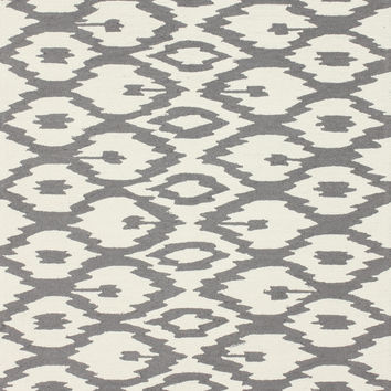 Noemi Ikat Collection Area Rug in Soft Grey design by NuLoom
