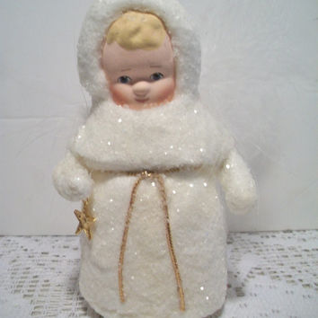 Winter Wonderland Sugared Girl Christmas Ornament Snowbaby Holiday Home Decor