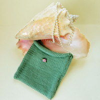 Handknit Childs Bag Handmade Knit Purse Girls Accessories