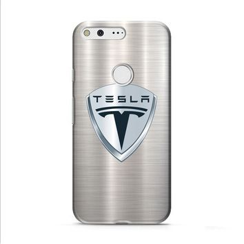 Tesla Motors Brushed Metal Logo Google Pixel XL 2 Case
