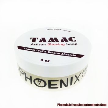 TAMAC Limited Edition Artisan Shave Soap - Tomato Leaf & Tobacco Absolute