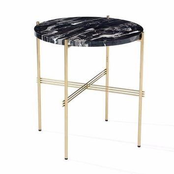 Selita Side Table in Nero Storm
