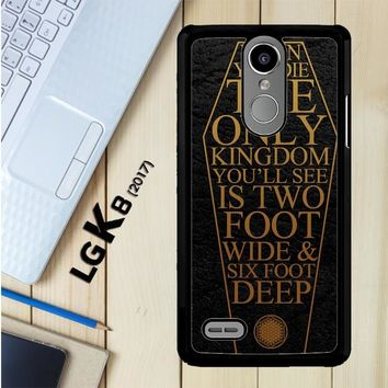 Bring Me The Horizon Coffin The House Of Wolves Quote F0353 LG K8 2017 / LG Aristo / LG Risio 2 / LG Fortune / LG Phoenix 3 Case