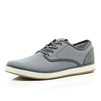 River Island MensGrey flecked lace chunky sole sneakers