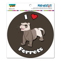 I Heart Love Ferrets - Ferret Pet Circle MAG-NEATO'S TM Car-Refrigerator Magnet