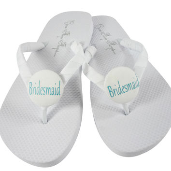 Aquamarine Bridesmaid Flip Flop for the Wedding