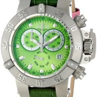 Invicta Women's 11624 Subaqua Chronograph Green Dial Green Leather Watch