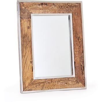 Paxson Rustic Wood Mirror