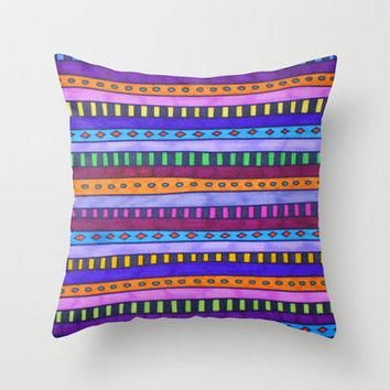 Gem Throw Pillow by Erin Jordan | Society6