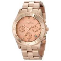 Marc by Marc Jacobs MBM3102 Women's Blade Rose Gold Dial Stainless Steel Chronograph Watch
