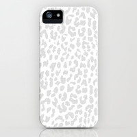 Pale Gray Leopard iPhone & iPod Case by M Studio - For iPhone 3G, 3GS, 4, 4S, 5/iPod Touch/Galaxy S4
