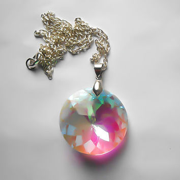 Crystal Necklace, Fantasy Necklace, Fairytale Necklace, Fairy Necklace, Faerie Necklace, Costume, Cosplay, Once Upon A time, Rainbow