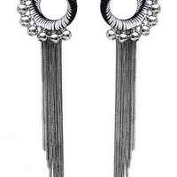 ROMWE | Round Beaded Tassels Earrings, The Latest Street Fashion
