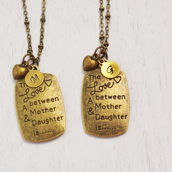 mother daughter necklaces, matching necklace, extra long necklace, baby shower gift, personalized jewelry, christmas gift, family necklace