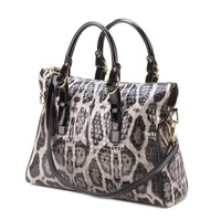 Sophisticated Gray Leopard Bag