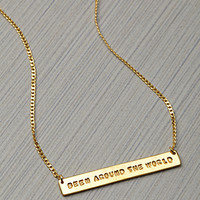 This Is A Love Song x Just For The Money Around the World Necklace