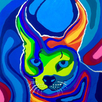Caracal Art Print, Cat Print, Art Print, Animal Print, Feline Art Print, Abstract Art