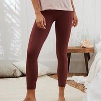Aerie MOVE High Waisted 7/8 Legging, Dark Rust