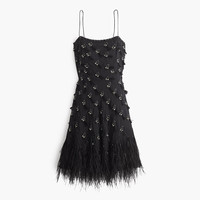 J.Crew Womens Collection Feather Flapper Dress